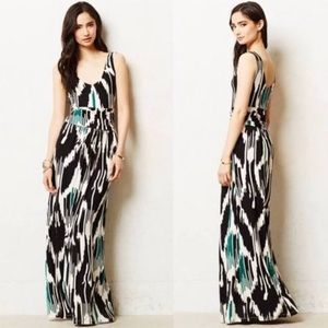 Anthropologie Batik Print Maxi Dress